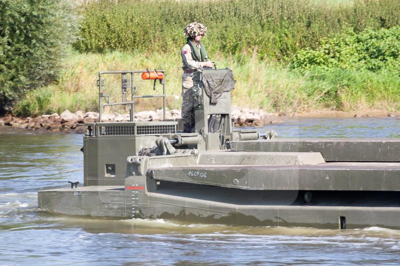 Panzerpionierbataillon 130 Minden - Angriff über ein Gewässer 2016