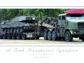 Challenger II on Oshkosh Tank Transporter