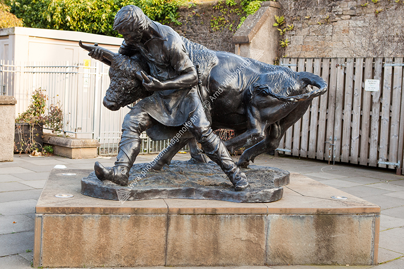 Hawick - The turning of the Bull Monument