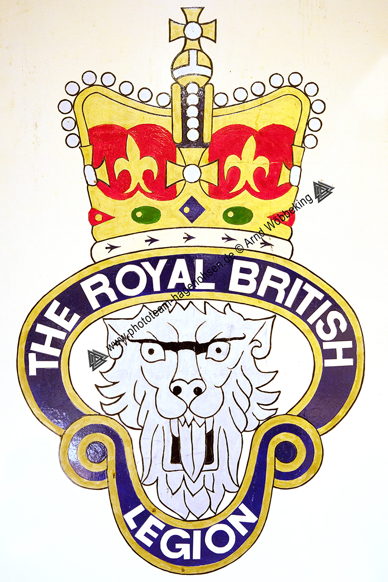 ROYAL BRITISH LEGION HAMELN BRANCH CREST SIGN