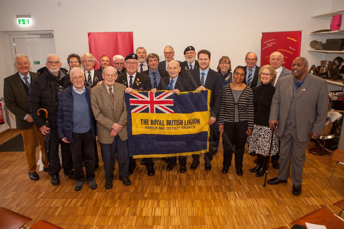 Die anwesenden Gäste, u.a. zahlreiche ehemalige Mitglieder der Royal British Legion Hameln Branch