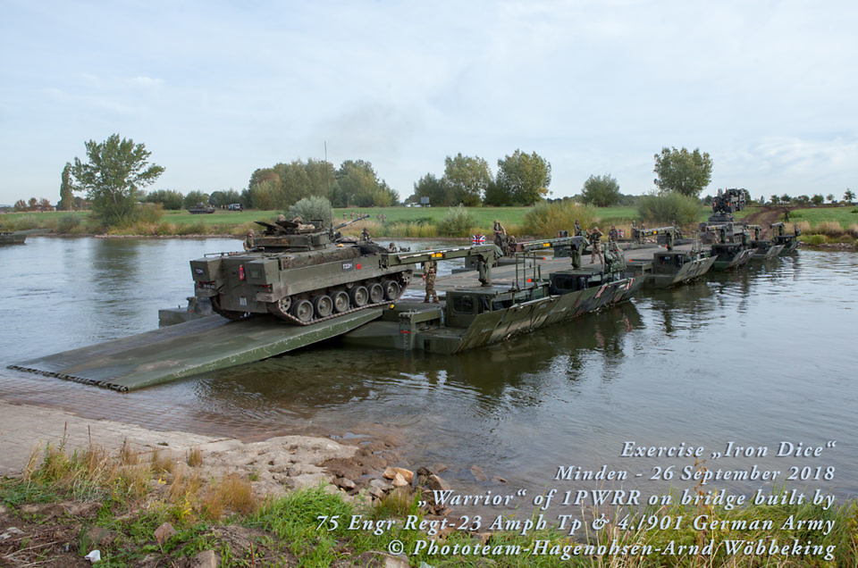 "Exercise ""IRON DICE"" der 3 (UK) Division in Minden"