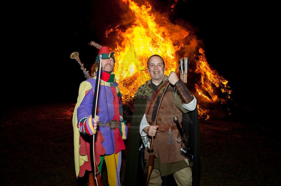 "Robin Hood bei der ""Guy Fawkes Bonfire Night"" in Hameln-Halvestorf"