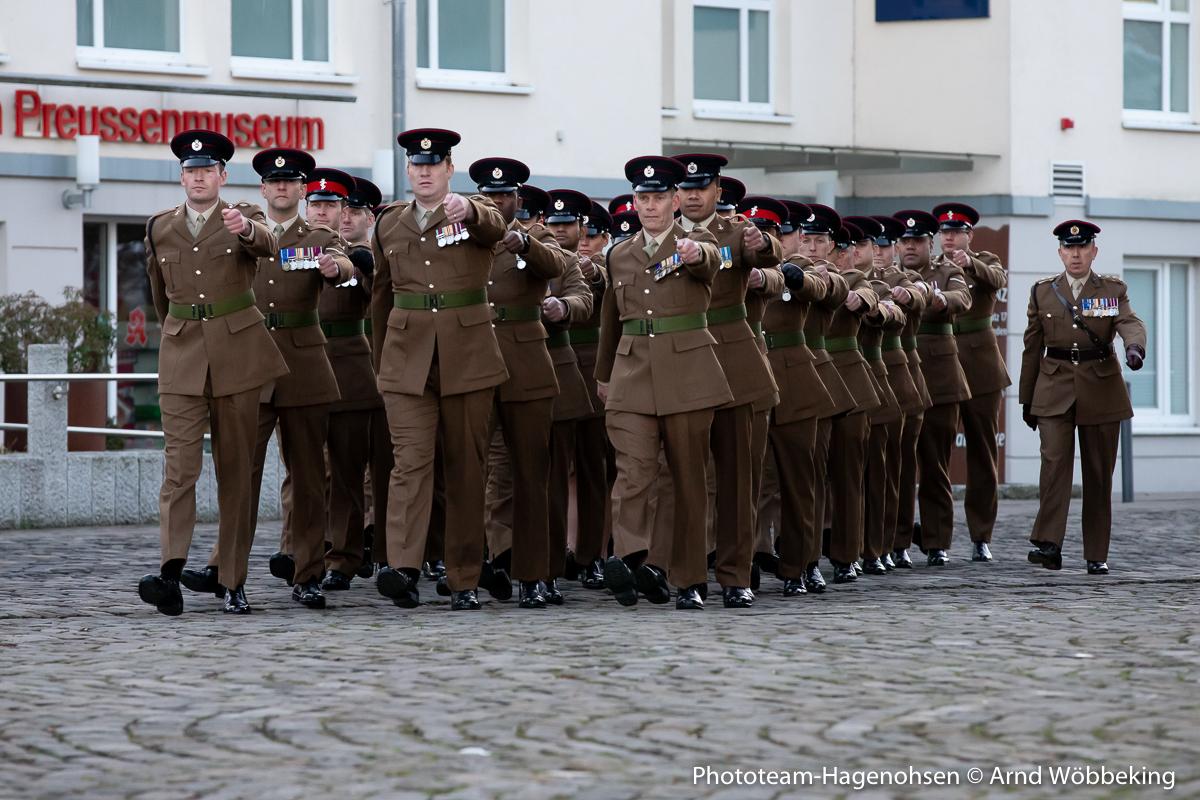 Einmarsch der britischen Streitkräfte 23 & 412 Amphibious Engineer Troop RE
