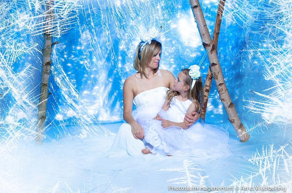 Die Winter im Studio- oder die Eiskönigin mit Ihrer Prinzessin