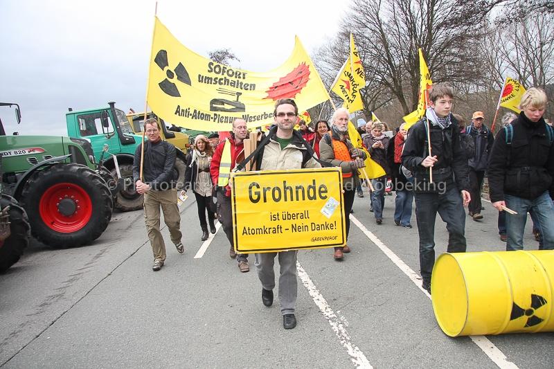 Demonstration gegen das KWG Grohnde